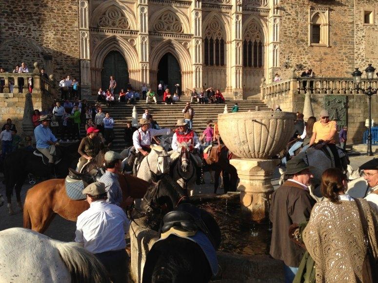En la plaza de Guadalupe a nuestra llegada