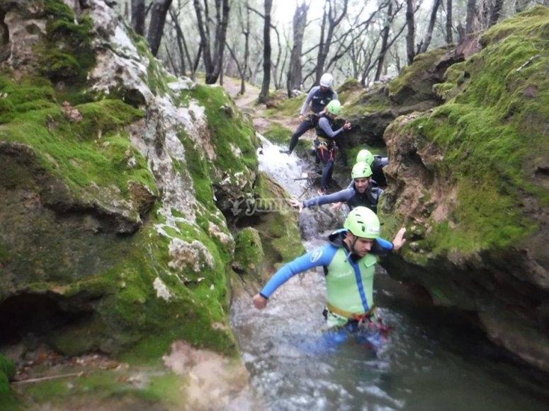 Grupo en el agua