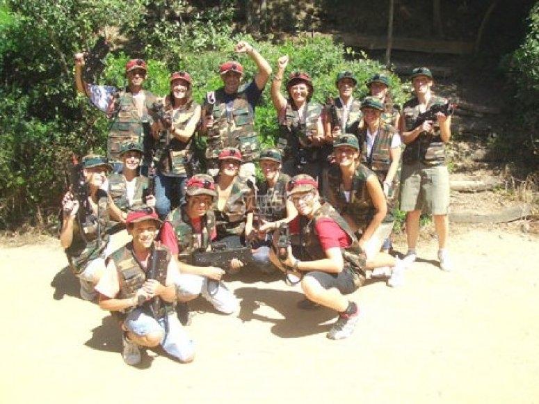 Grupo de jugadores de laser combat