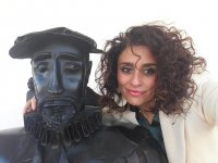 Posing with Don Quijote