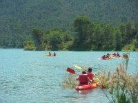 Giro in canoa nel serbatoio del Tranco, 2 ore