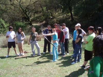 Sessione di tiro con l'arco nel parco naturale di Cazorla