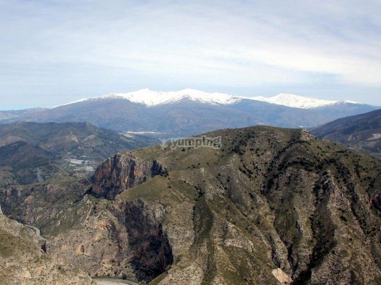 Tajo delos Vados canyon and Sierra Nevada