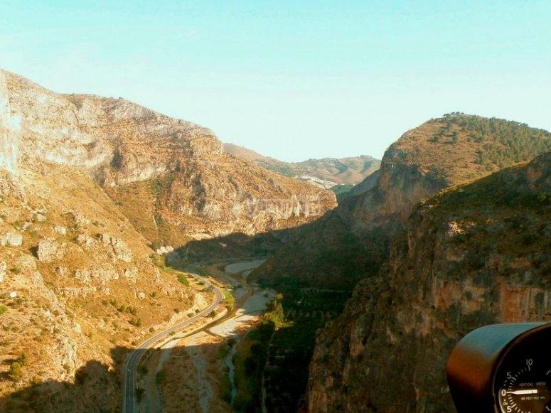 The interior of the Tajo de los Vados canyon