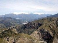 Tajo de los Vados canyon and Sierra Nevada