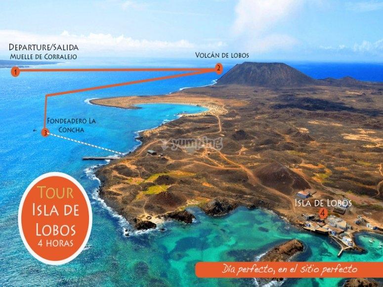 Ruta hasta la Isla de Lobos