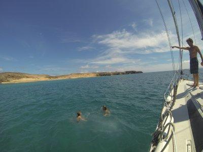 从Corralejo到南兰萨罗特岛的帆船之旅