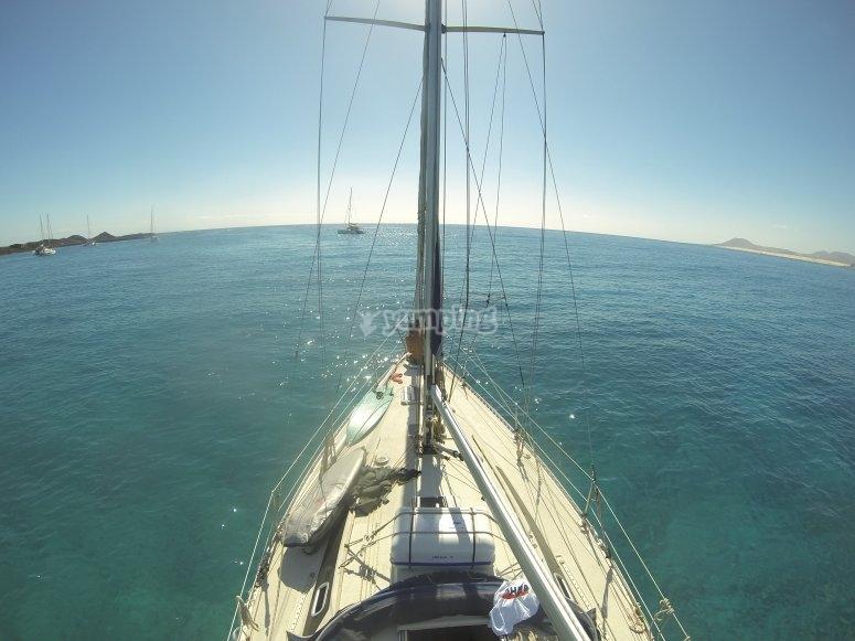 Durante el trayecto en el barco