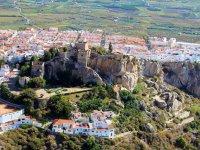 Vuelo en helicóptero sobre castillo de Salobreña