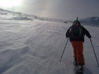 在Gredos雪地行走,半天