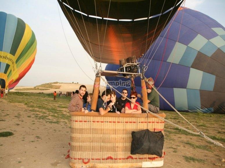Balloon flight for groups