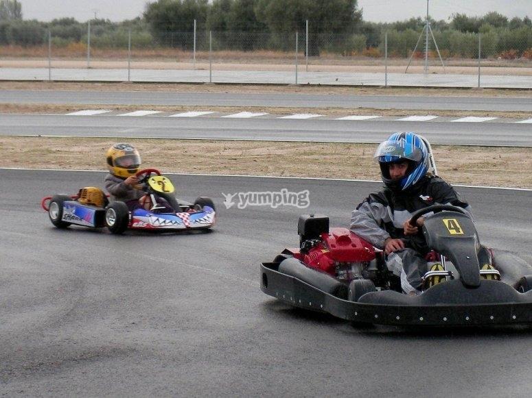 Flying the go-kart