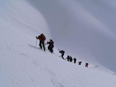 路径与雪鞋成人Peñalara3h