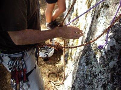 Course of climbing self-rescue techniques