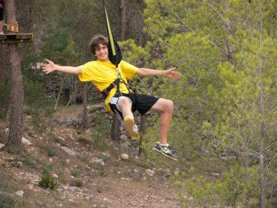 Tree top adventure in Benifallet.