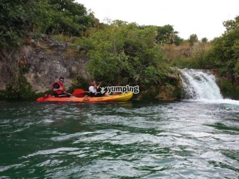 Paseando en kayak por Ruidera