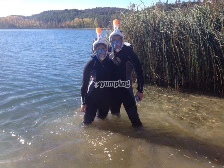 Snorkel en la laguna