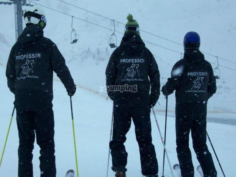 私人课程1小时滑雪