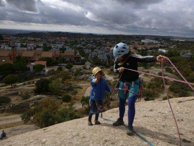 Curso de escalada para niños La Pedriza 4 horas