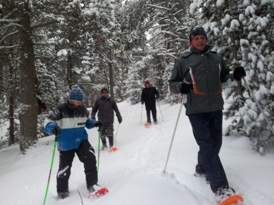 1h snowshoes route in La Molina