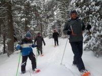 La Molina的1小时雪鞋远足。