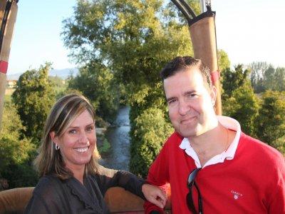 Il volo in mongolfiera accoppia esclusivamente la Valle dell'Ebro