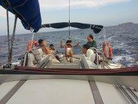 Salida en velero desde L Escala