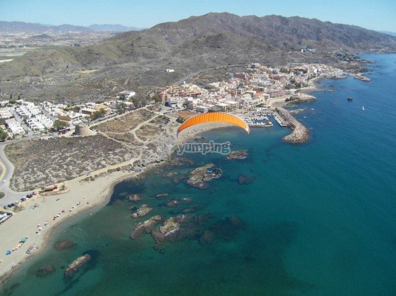 Colourful beaches from the sky