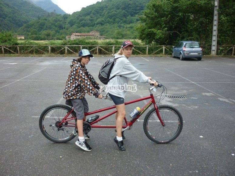 Tandem bikes rental