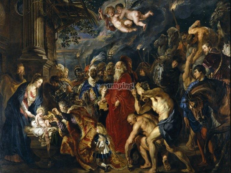 La Adoración de los Reyes Magos en El Prado