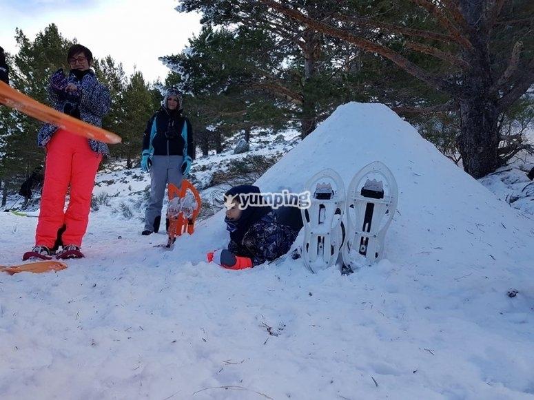 construccion de iglu