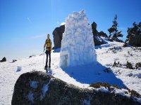Raquetas de nieve, hacer iglú y trineo Navacerrada