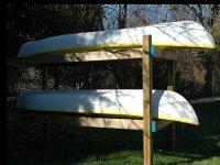 Canoes under repair