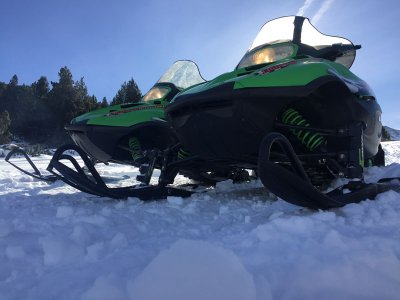 Two-seater Snowmobile Guided Tour in Andorra