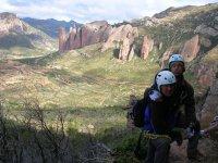 Sesion de escalada en Huesca