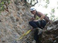 Chica de escalada
