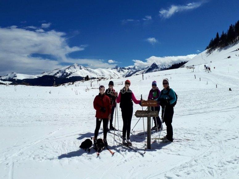 北欧滑雪组