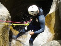 Rapel en el barranco en Huesca
