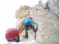 Grabando al escalador