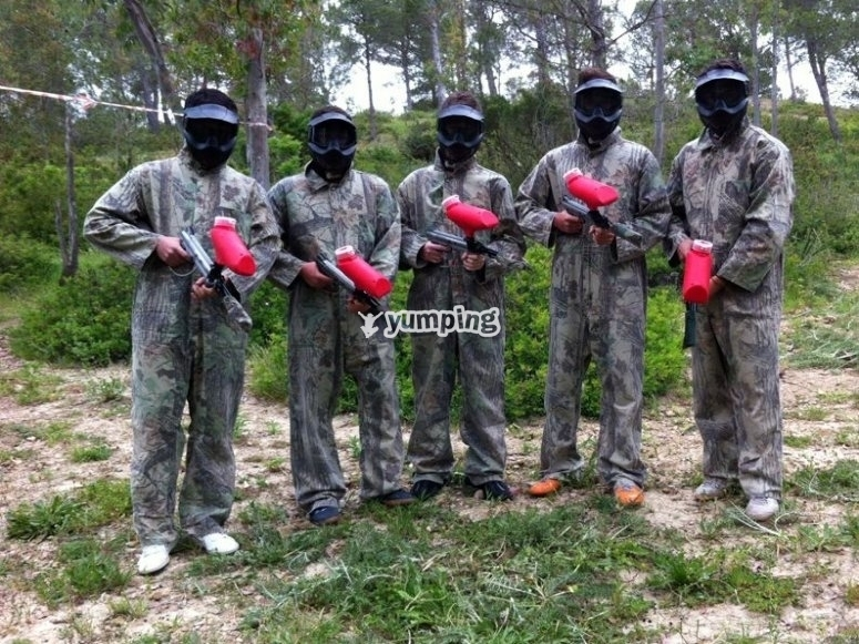 Oferta de paintball para estudiantes