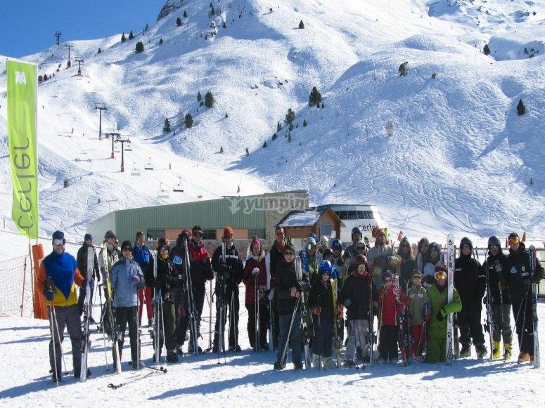 Masella的5小时滑雪课程--999-全日滑雪课程--999-加泰罗尼亚比利牛斯山脉的滑雪课程