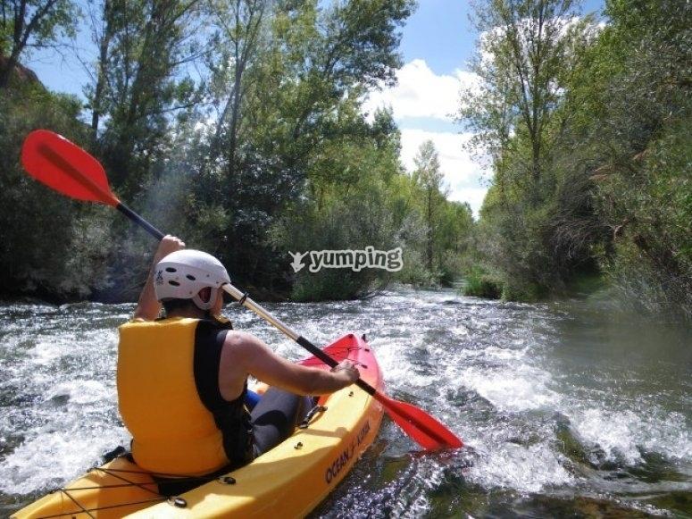 在河里的活动