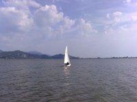 Sail over lake