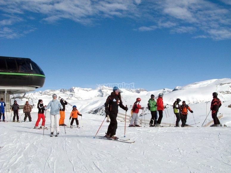 curso de esqui navidades