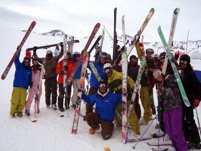 在Masella,特别圣诞节的滑雪板课程