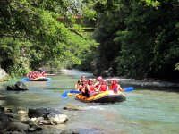 Tranquil stretch of rafting