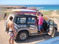 Fine di una giornata di surf a Tindaya