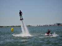 Making amazing pirouettes over the flyboard