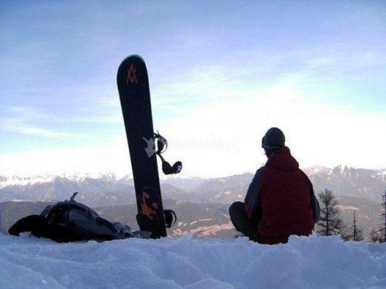 雪雪橇的学习过程中学习雪花