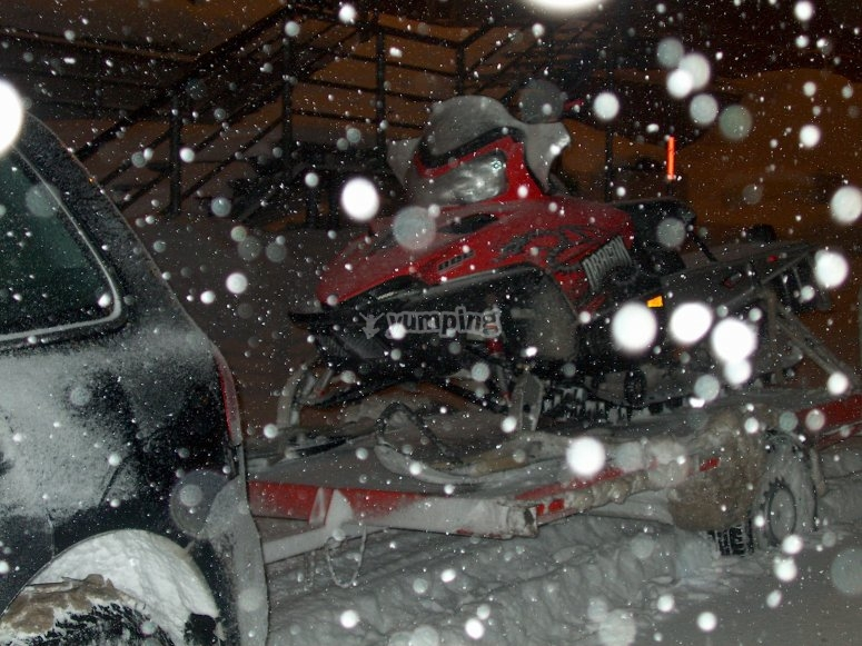 Dinner on the snow